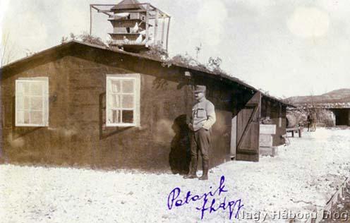 Patarik Mihály főhadnagy, a szegedi 46-osok élelmező tisztje a Segeti táborban 1916 tavaszán