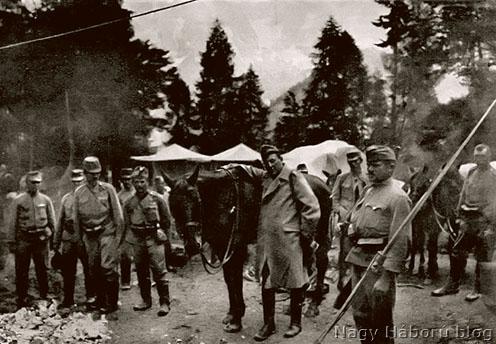 Hadtápállomás az olasz fronton