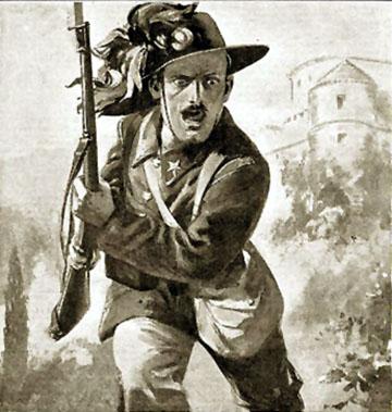 Bersaglieri 1916-os háborús propaganda plakáton