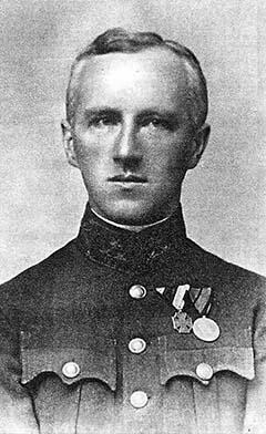 Szakraida István századosként az 1920-as években