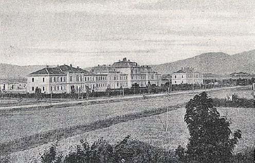 Lovassági kaszárnya mint kórház Nišben