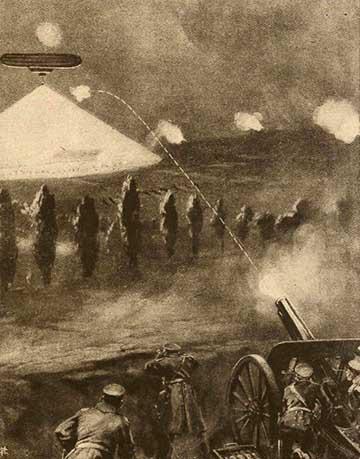 A németek bombázzák Varsó egyik küldő erődjét
