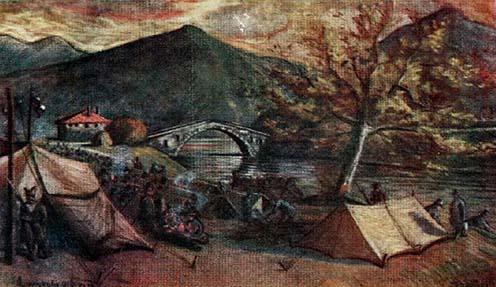 Táborozás a Jum Kule-i hídnál