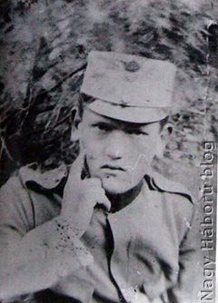 Búcsú az otthontól. Indul a menetszakasz az orosz frontra Volhíniába a tüzérütegeink megfogyatkozott létszámának kiegészítésére, 1915.