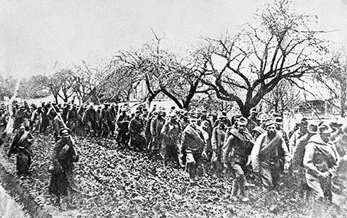 A Bruszilov-offenzíva során fogságba esett osztrák–magyar katonák