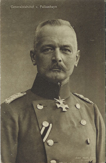 Erich von Falkenhayn (1861–1922) német tábornok és katonapolitikus. 1916. augusztus 29-én az Erdélybe vezényelt 9. német hadsereg vezetésével bízták meg.