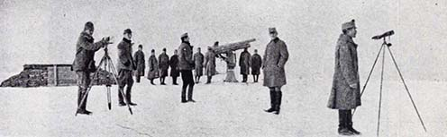 Protilietadlová batéria 4/5. v Toplici v zime 1917–1918