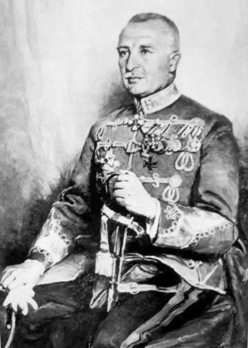 Werth Henrik, mint altábornagy. Mihalovits Miklós festményéről készült fotómásolat