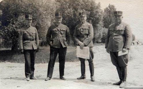 Werth Henrik a 20-as években egy hadgyakorlaton