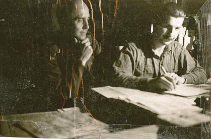 Kicsi - Vadász Ödön  - 1942 szeptember - Krizanich ezredessel a 36osok lápján.jpg