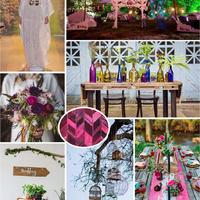Eklektikus fesztivál esküvő