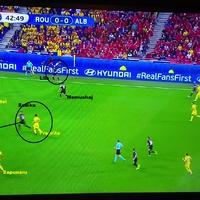 Románia-Albánia a gól elemzése