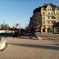 Az átalakított Szent László/Unirii tér