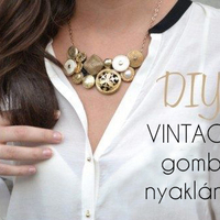 Vintage gomb nyaklánc