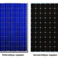 Napelemek gyártási technológiájának összehasonlítása 1. rész