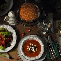 Sültsütőtök-krémleves, forró gombás-brokkolis szendvics és édesburgonyatorta