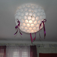 Angülávilázsité – lámpabura műanyag pohárból