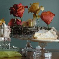 Háromszázötvennyolcadik nap: Rózsás asztalközép