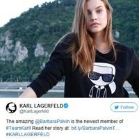 Palvin Barbi Lagerfeld csapatának tagja lett