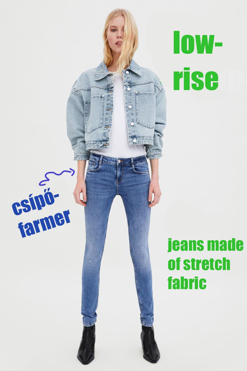 c172f7225238 Jöjjenek a képek, némi magyarázattal, hogy mit is jelent a nadrágok  belső/külső címkéjén található leírás: high waist/mid-rise.