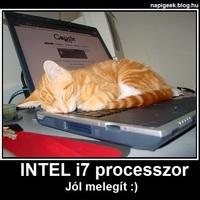 Macska és az Intel i7 proci!