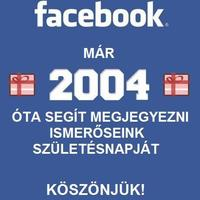 Köszönjük Facebook!
