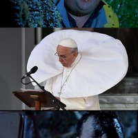 Ferenc Pápa nagyon veszélyes szeles időben!