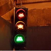 Kockafej közlekedési lámpa