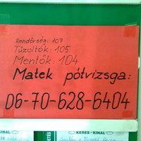 Életmentő telefonszámok!
