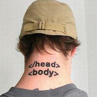 HTML tetoválás!