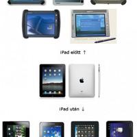 Tablet dizájn iPad előtt és után!