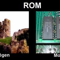 Régen és most: ROM