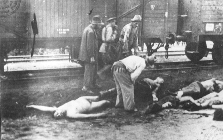 a_romanian_guard_walks_past_gypsies_removing_bodies_from_the_iasi-calarasi_death_train.jpg