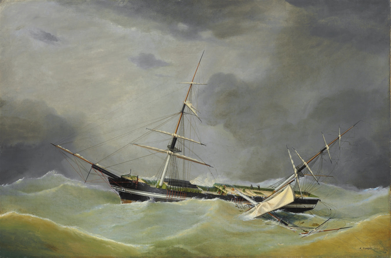 frederick_tudgay_a_dismasted_ship_riding_out_the_gale.jpg