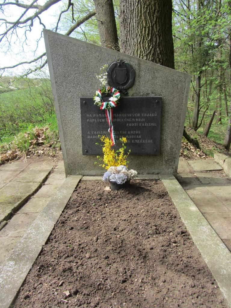 A cseh hagyományőrzők 2013. április 27-én látogatták meg az emlékművet, amelyet letakarítottak - forrás: honved.estranky.cz