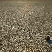 Vándorló kövek a sivatagban