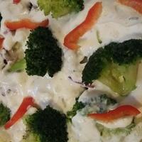 Csőben sült karfiol és brokkoli