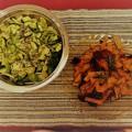 Tepsis édesburgonya friss salátával