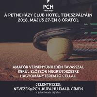 Amatőr teniszverseny az Adyligetben