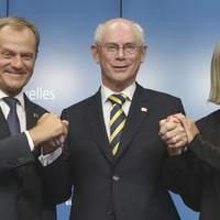 Rompuy jelentette be Donald Tusk és Federica Mogherini megválasztását az ET-ben