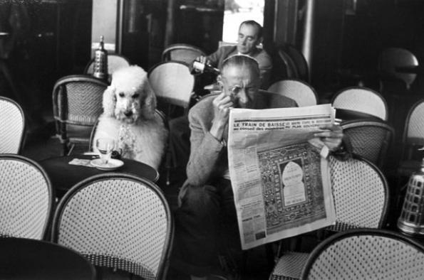 Edouard Boubat, Cafe De Flore, Saint Germain des Pres, Paris, 1953