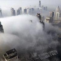 Ködösített felhőkarcolók