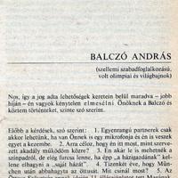 Friderikusz 1984-es Balczó András-interjúja