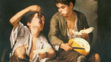Beggar Boys Eating Grapes and Melon