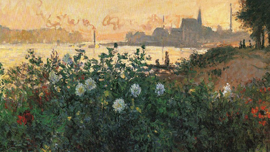Flowers on the riverbank at Argenteuil