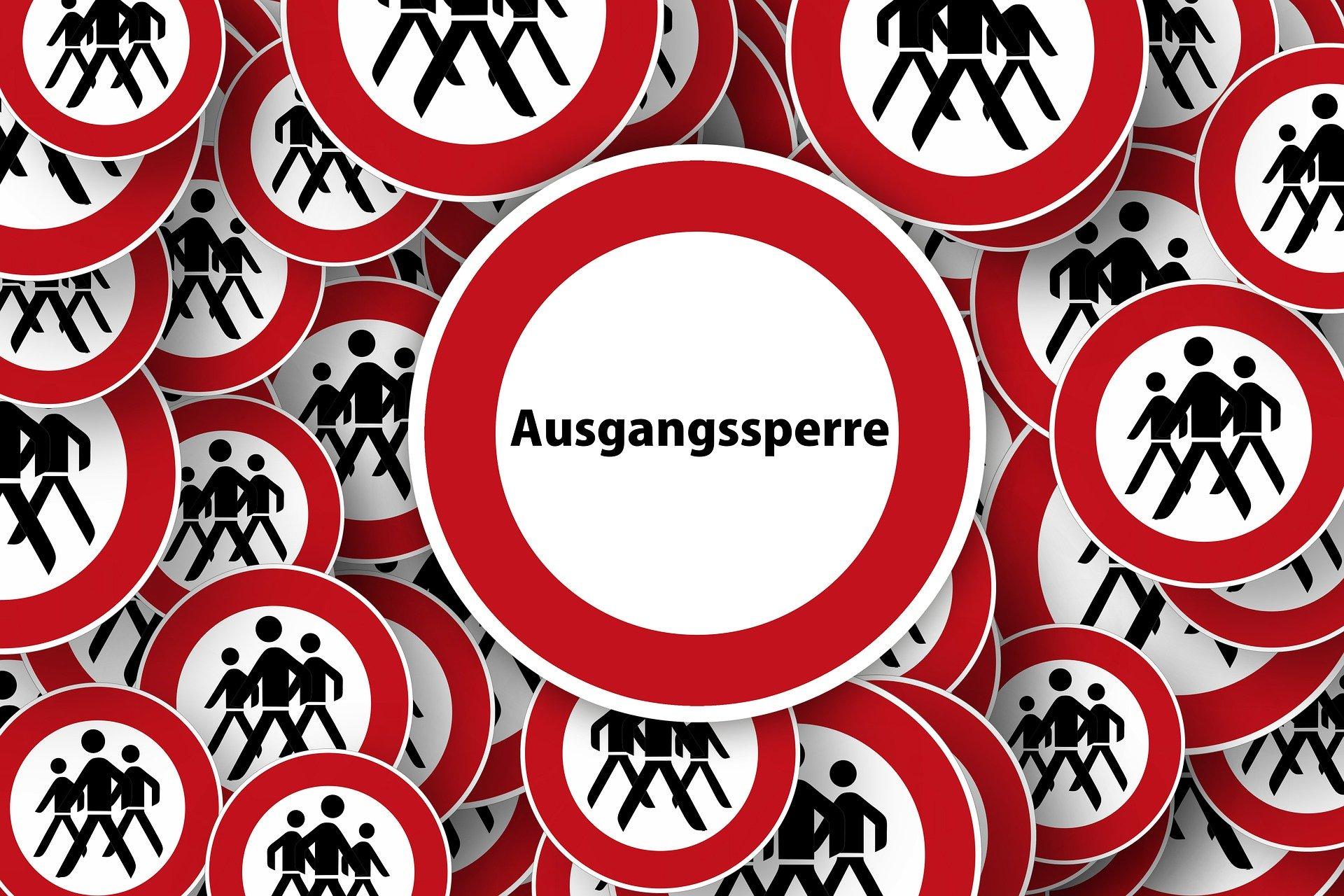 Ideiglenes kijárási korlátozás Bajorországban a korona-járvány miatt