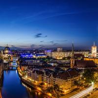 Berlin éjszakai látkép