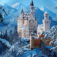 Hohenschwangau kastély télen