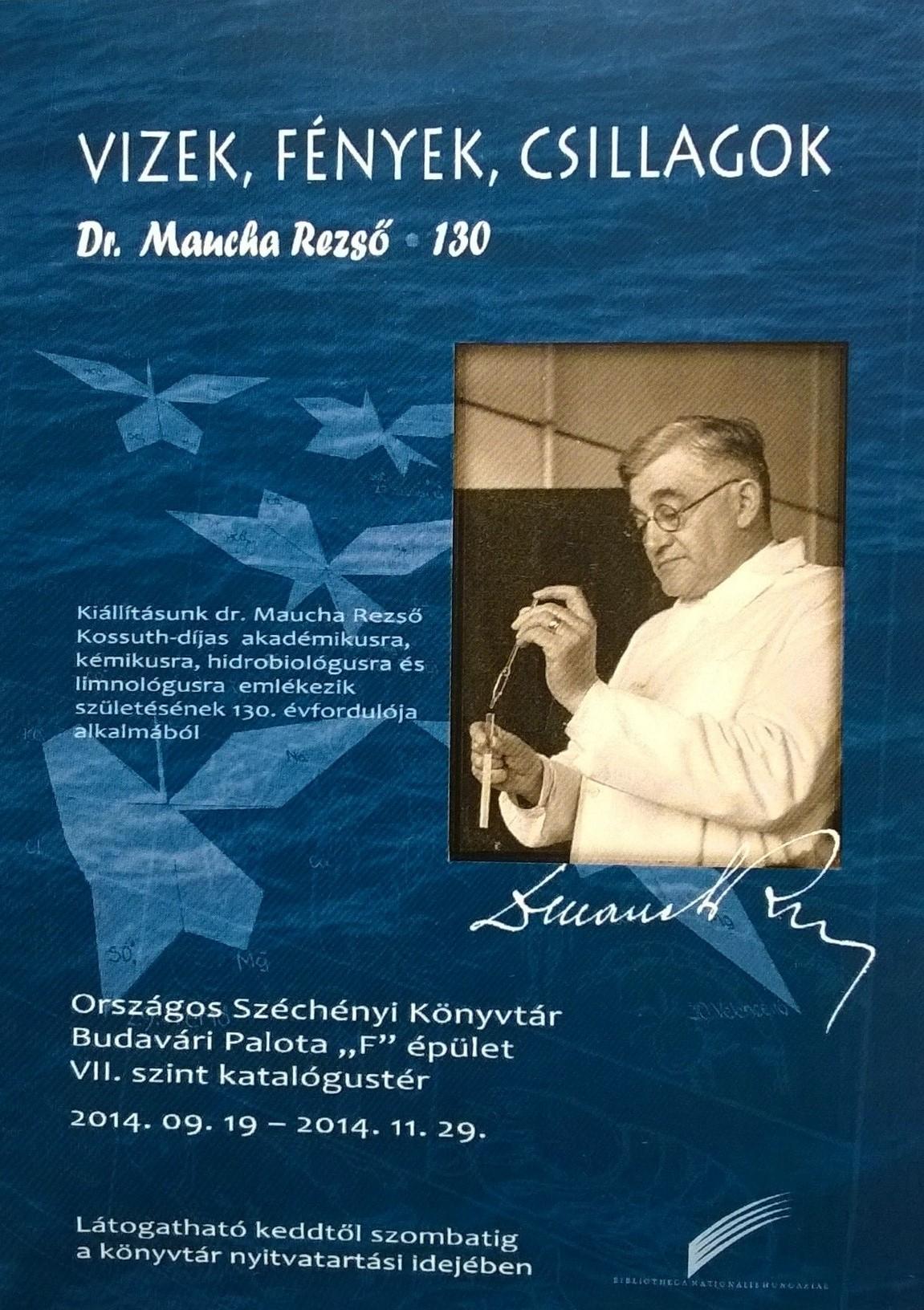 A kiállítás plakátja, 2014. (Készítette: Karasz Lajos) http://nektar.oszk.hu/hu/manifestation/3555050 – Plakát- és Kisnyomtatványtár