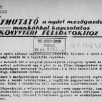 Az OSZK és a mezőgazdasági munka? – érdekes kordokumentum 1953-ból